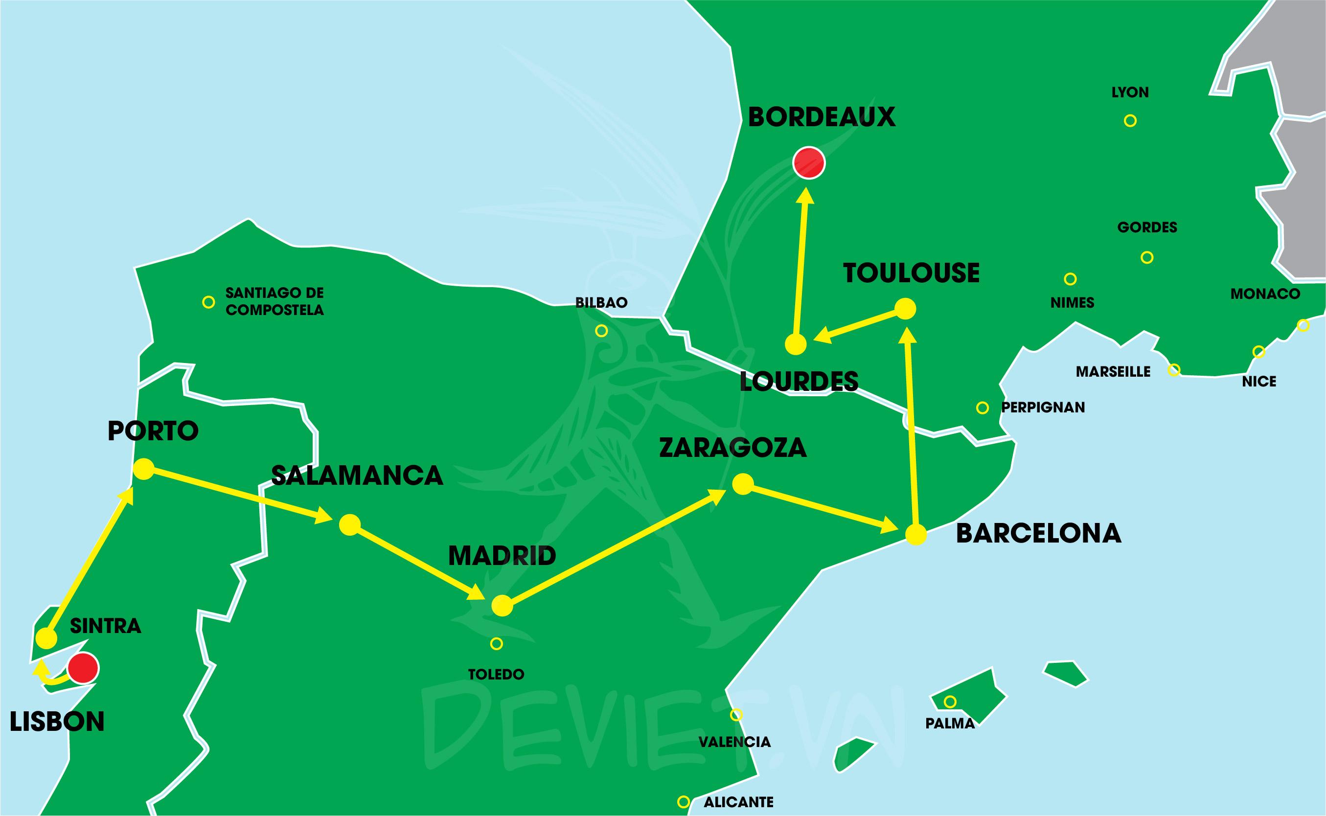 Bồ Đào Nha – Tây Ban Nha – Pháp 11 ngày 10 đêm độc quyền của Dế Việt