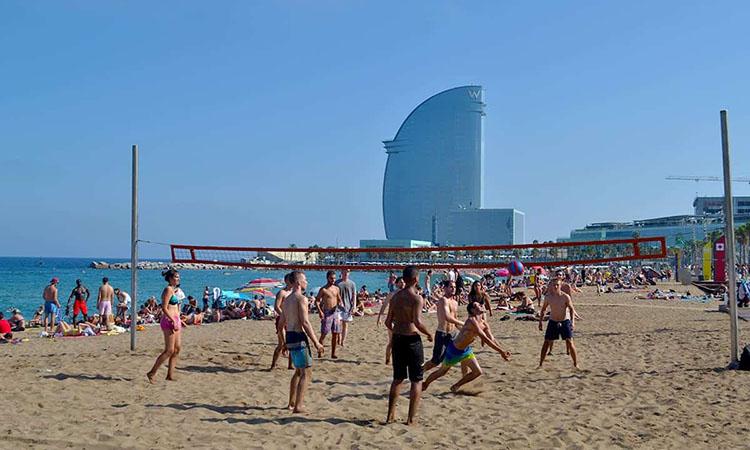 Các hoạt động thể thao tại Barceloneta