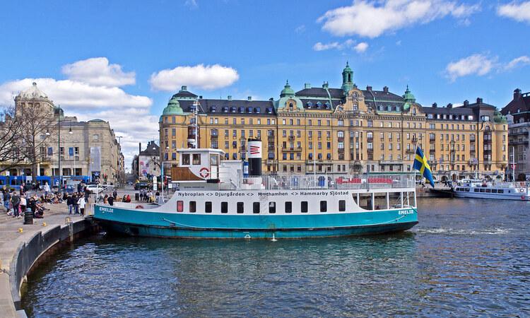 Di chuyển tới bảo tàng Vasa bằng phà