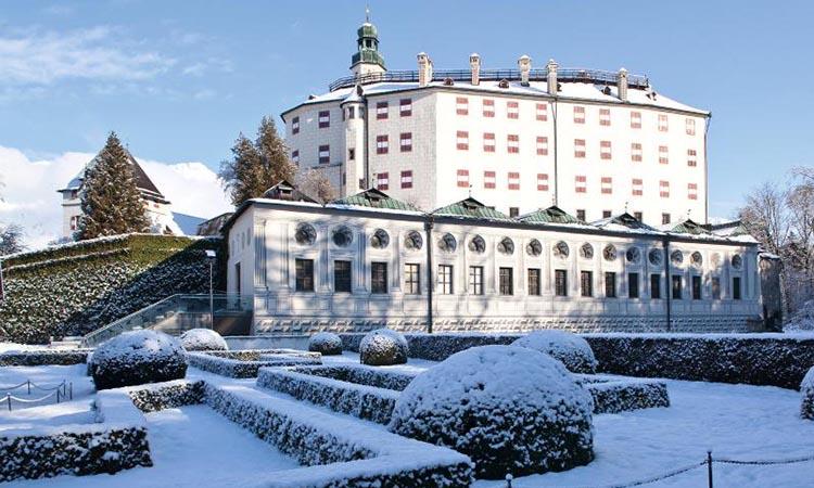 Mùa đông ở lâu đài Ambras