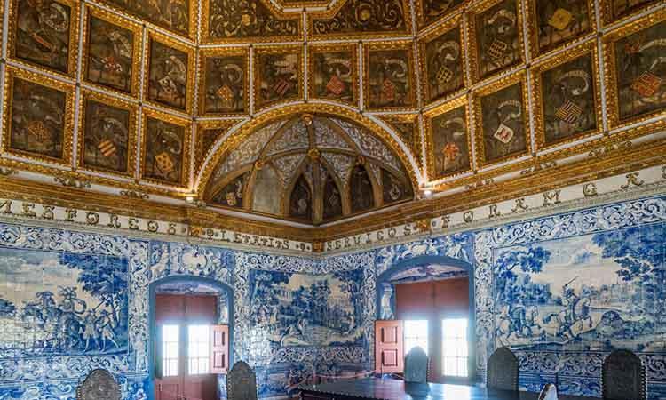 Nội thất trong cung điện Pena