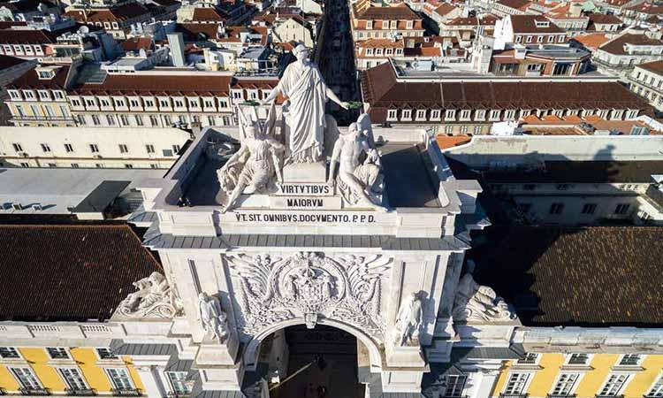 Khải hoàn môn Arco da Rua Augusta có lịch sử lâu đời