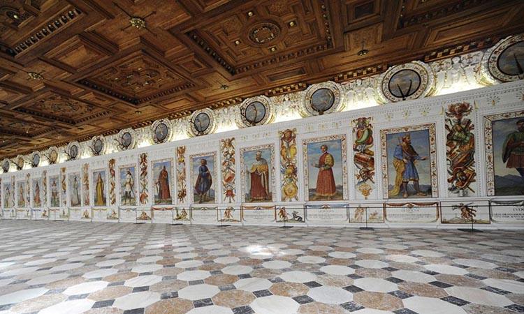 Nội thất của lâu đài Ambras