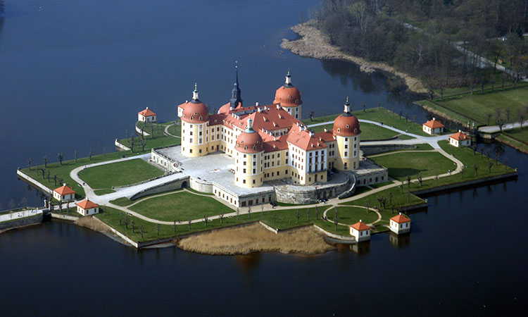 Lâu đài Moritzburg nhìn từ trên cao
