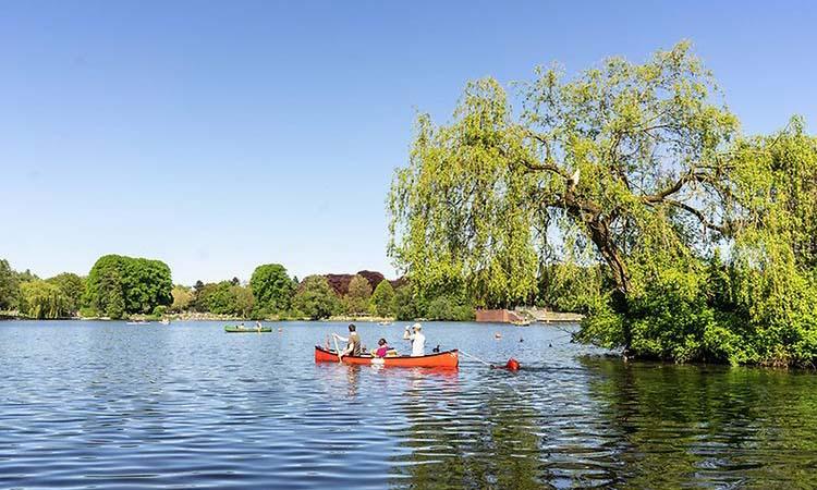 Vẻ đẹp của hồ Alster