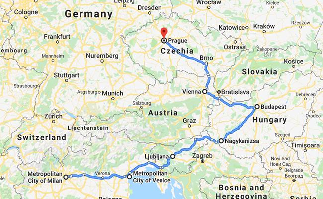 Tour du lịch Ý – Slovakia – Hungary- Áo – Séc 10 ngày 9 đêm