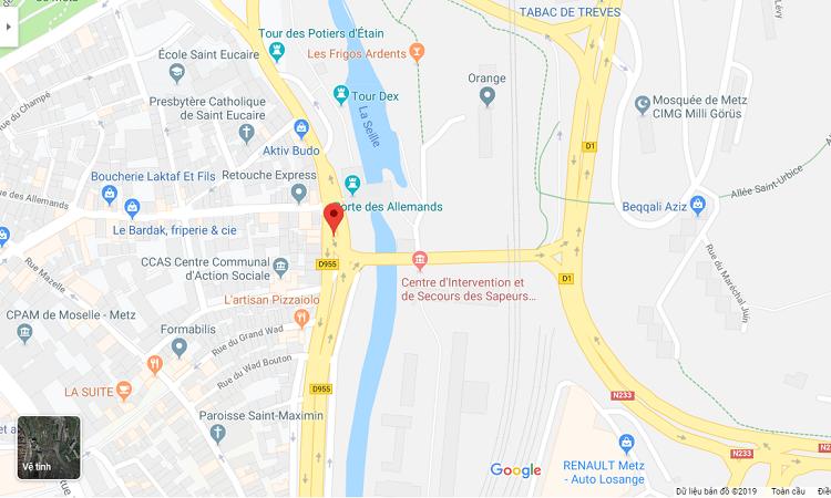 bản đồ địa điểm cổng thành