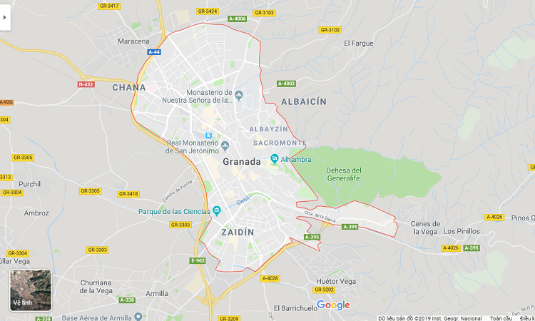 Bản đồ khu phố Albaicin