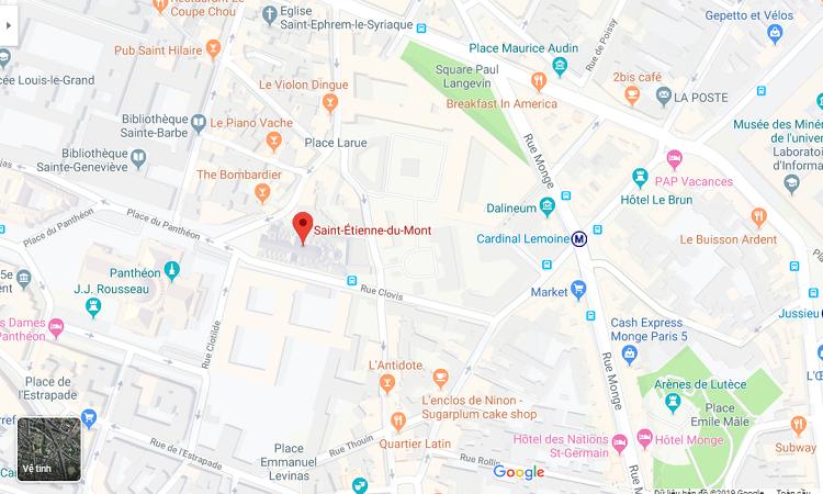 Vị trí nhà thờ Saint Etienne trên Google Maps