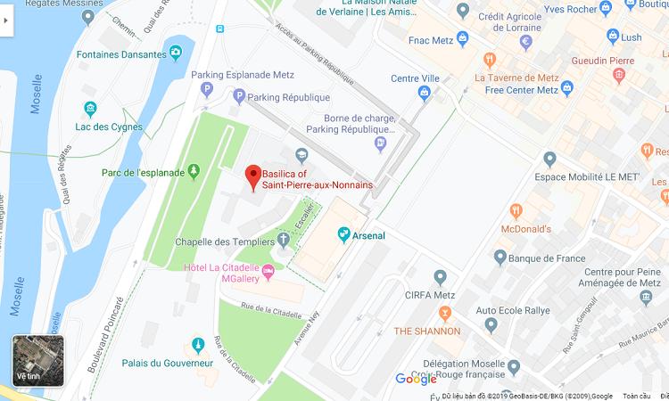 Vị trí nhà thờ trên Google Maps