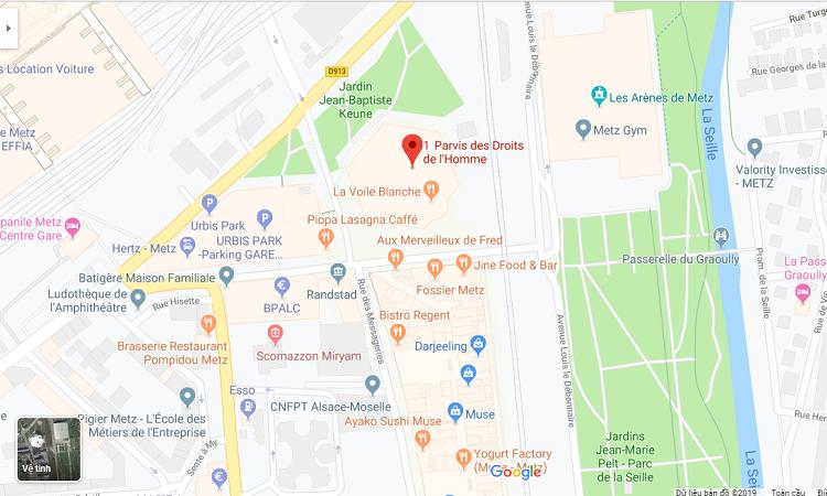 Bản đồ khu vực Trung tâm Pompidou-Metz