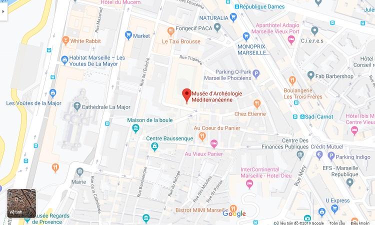 Vị trí bảo tàng trên Google Maps