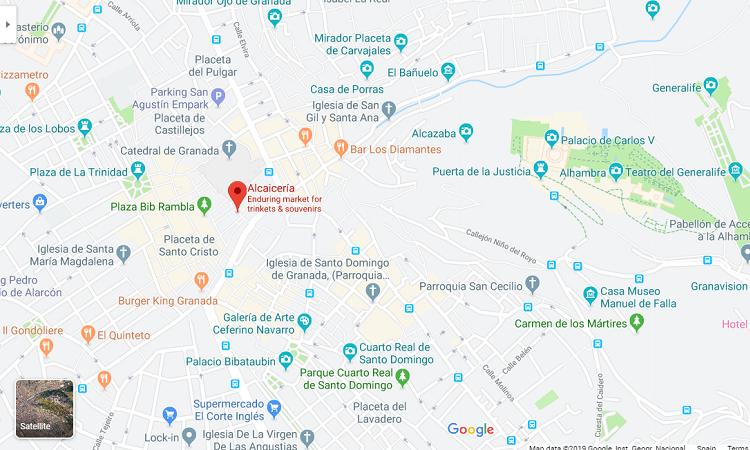 Vị trí chợ trên Google maps