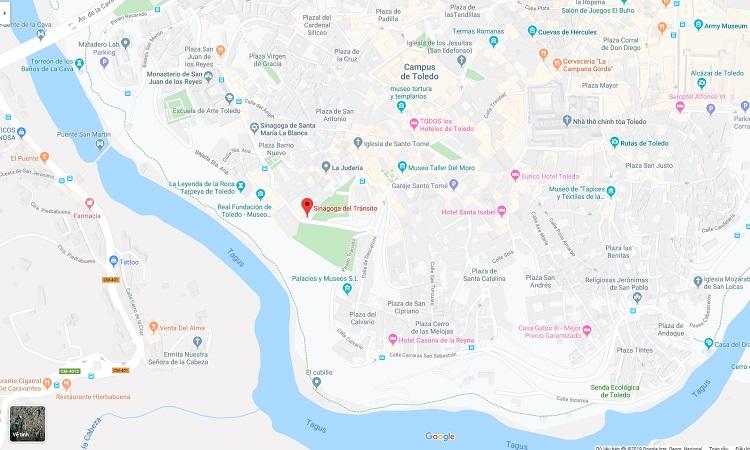 Vị trí giáo đường trên bản đồ trực tuyến