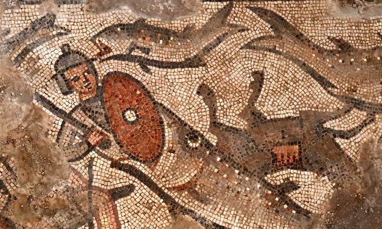 Chi tiết 1 bức tranh trang trí trên tường giáo đường