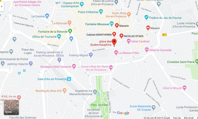 Vị trí Khu phố Quartier Mazarin trên Google maps