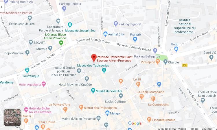 Vị trí nhà thờ Cathedrale Saint Sauveur trên Google Maps