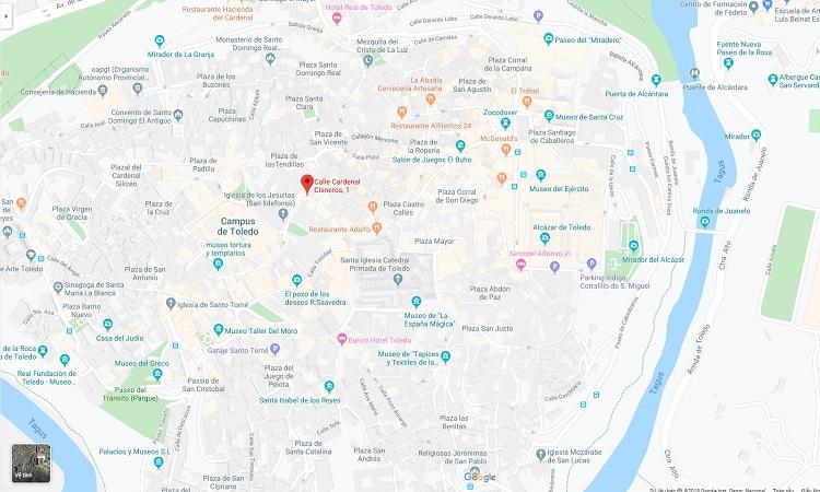 Vị trí nhà thờ toledo trên google maps