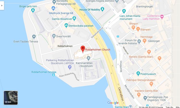 Vị trí nhà thờ trên bản đồ