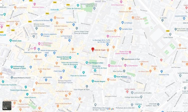 Vị trí biệt thự Hotel de Vogue trên bản đồ trực tuyến