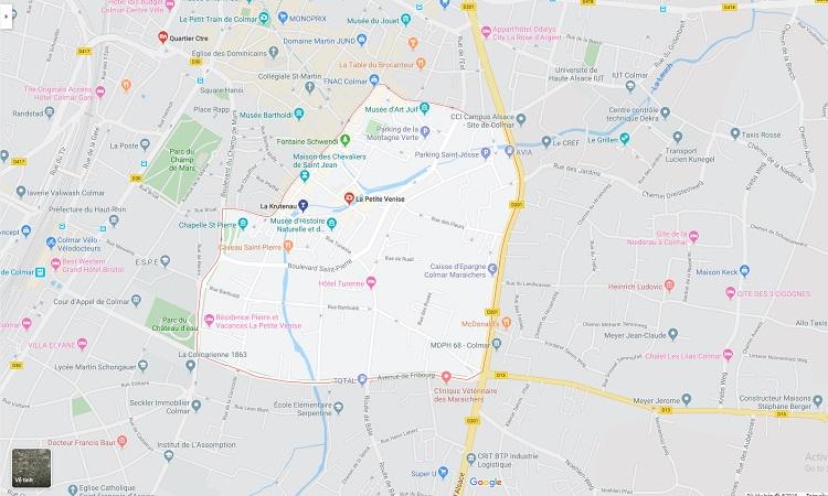 Vị trí Khu phố Quartier de la Krutenau trên Google Maps
