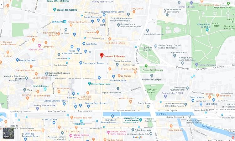 Vị trí Tòa nhà quốc hội trên Google Maps