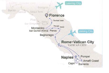 Tour ghép Miền Nam Ý và Tuscany (6 ngày 5 đêm)