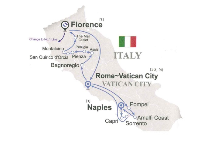 Tour ghép MIỀN NAM NƯỚC Ý (7 ngày 6 đêm)