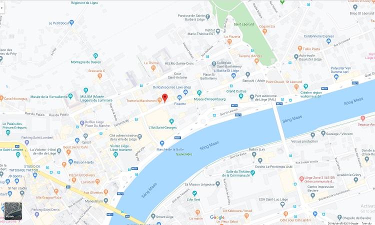 Vị trí con phố Féronstrée trên Google Maps