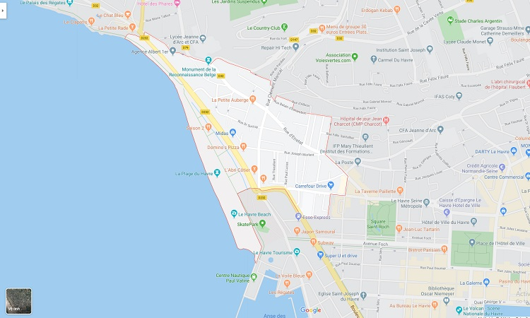Vị trí khu phố trên bản đồ trực tuyến