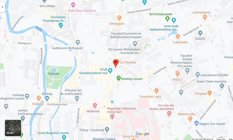 Vị trí Phố Naamsestraat trên bản đồ trực tuyến