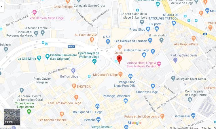 Vị trí quảng trường trên bản đồ trực tuyến