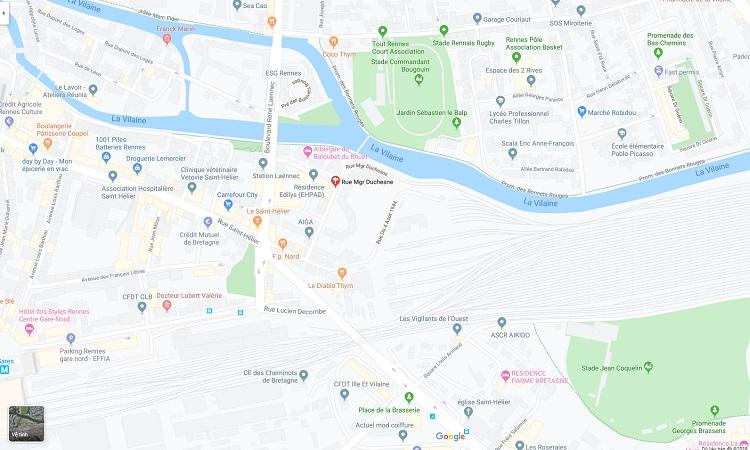 Vị trí Tháp Duchesne trên bản đồ trực tuyến