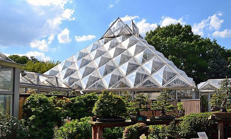 Mô hình kim tự tháp trong Công viên