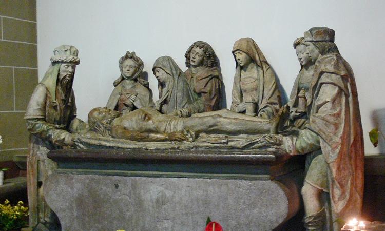 Tượng Entombment of Christ bằng đá sa thạch