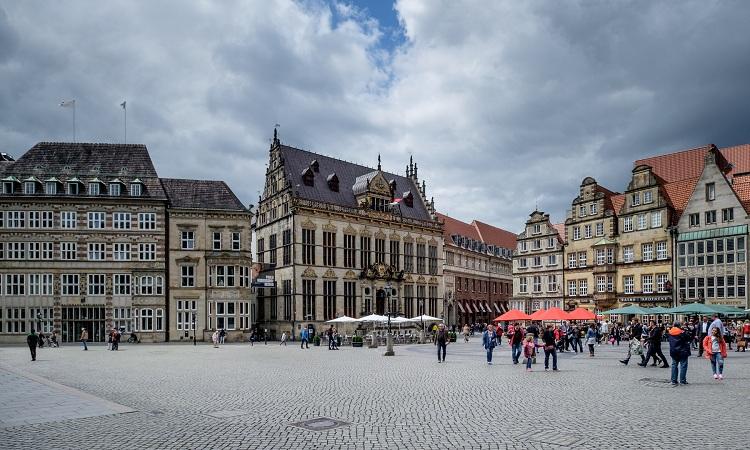 Quảng trường Marktplatz đã trải qua nhiều lần cải tạo để tạo nên vẻ đẹp ấn tượng như hiện nay