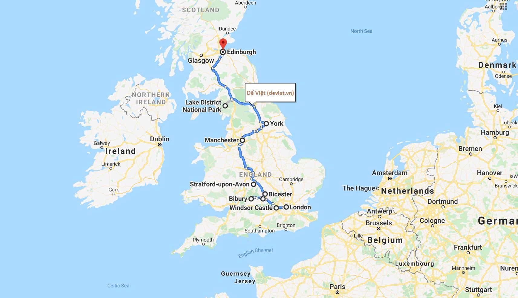 Tour trọn gói 2020 ANH – SCOTLAND 9 NGÀY