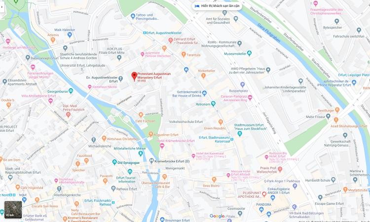 Vị trí Tu viện Augustinerkloster trên bản đồ trực tuyến