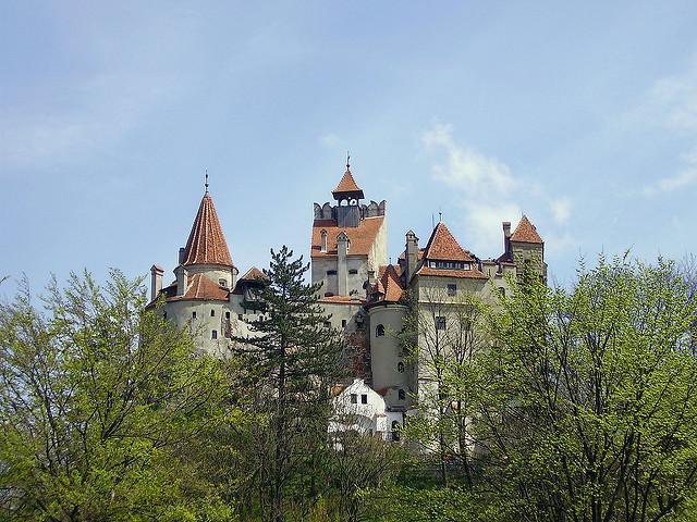 địa điểm du lịch ở châu Âu lâu đài Bran ở Brasov