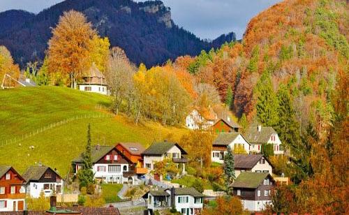 Mùa thu vàng ở Thụy Sĩ