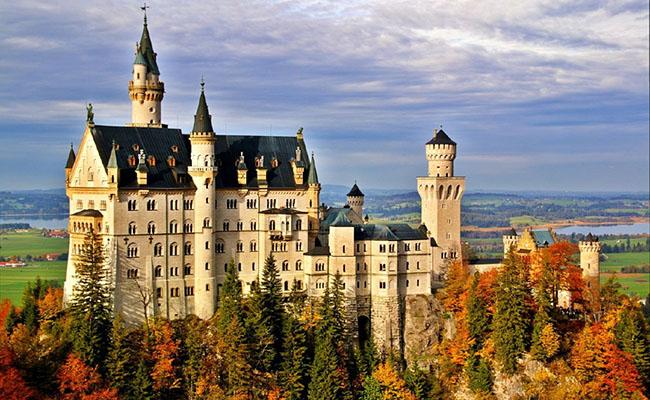 Những lâu đài tại Đức như nhuốm màu thời gian